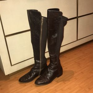 Michael Kors Brown BROMLEY Genuine Leather boots 6